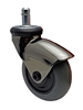 "3"" Gray Rubber - Black LUX Furniture Caster"