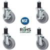 3 inch Caster Wheel Set for Stainless Steel Commercial Kitchen Prep Tables