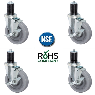 Nsf Certified 5 Inch Caster Wheel Set For Stainless
