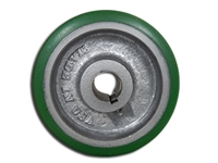"4"" x 1-1/2"" Polyurethane Tread Keyed Drive Wheel with a ​1-5/8"" Hub Length and 5/8"" Bore Size - CasterHQ Brand - Highest Quality in the Industry - MADE IN USA - Tread Re-bonding available as well"