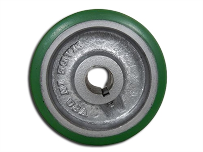 "5"" x 1-1/2"" Polyurethane Tread Keyed Drive Wheel with a ​1-5/8"" Hub Length and 3/4"" Bore Size - CasterHQ Brand - Highest Quality in the Industry - MADE IN USA - Tread Re-bonding available as well"