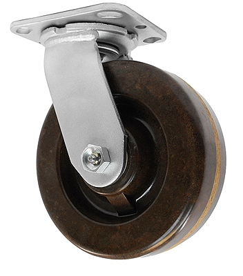 "6"" x 2"" High Temp Swivel Caster"
