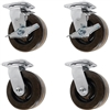 6-Inch-High-Temp-Caster-Set-Brakes