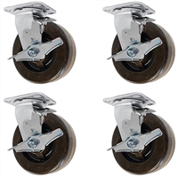 4-Inch-High-Temp-Caster-Set-4-Brakes