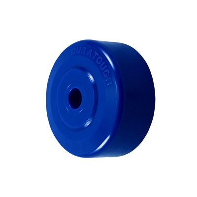 "4"" X 1-1/4"" BLUE SOLID POLYURETHANE (NON MARKING) WHEEL - 250 LBS CAPACITY"