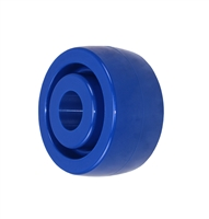 "4"" X 2"" BLUE SOLID POLYURETHANE (NON MARKING) WHEEL - 750 LBS CAPACITY"