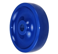 "8"" X 2"" BLUE SOLID POLYURETHANE (NON MARKING) WHEEL - 1,000 LBS CAPACITY"