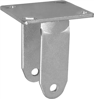 "8"" x 2"" Rigid Caster Yoke / Rig/ Fork / Frame /  - Capacity up to 1,250 lbs"