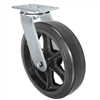 "12"" Swivel Caster - Rubber Tread Wheel  Cast Iron Core - 1,200 lbs Capacity"