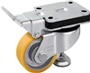 "HRLK-ALTH-80K - 3-1/8"" x 1-1/8"" Wheel - Blickle Leveling Caster with Fixed Position Operating Lever and Integrated Truck Lock - Heavy Duty Nylon Wheel - 400 lbs Capacity"