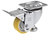 "HRLK-ALTH-80K-F - 3-1/8"" x 1-1/8"" Wheel - Blickle Leveling Caster with Fixed Foot and Height Adjustable Wheel - 330 lbs Capacity"