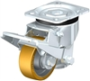 "HRLK-ALTH-80K-HN - 3-1/8"" x 1-1/8"" Wheel - Blickle Leveling Caster with Fixed Foot and Height Adjustable Wheel - 400 lbs Capacity"