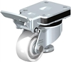"HRLK-SPO-75K - 3"" x 1-1/4"" Wheel - Leveling Caster with Integrated Truck Lock - Heavy Duty Nylon Wheel - 660 lbs Capacity"