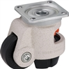 "HRSP-POA-72G - 2-53/64"" x 1-1/4"" Nylon Wheel - Blickle Leveling Caster with Integrated Truck Lock - 2,200 lbs Capacity (1 Piece)"