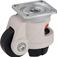 "HRP-POA-45G - 1-3/4"" x 11/16"" Nylon Wheel - Blickle Leveling Caster with Integrated Truck Lock - 400 lbs Capacity"