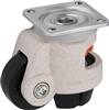 "HRP-POA-50G - 2"" x 15/16"" Nylon Wheel - Blickle Leveling Caster with Integrated Truck Lock - 550 lbs Capacity"