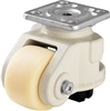 "HRSP-GSPO-90G - 3-9/16"" x 2-5/32"" Nylon Wheel - Blickle Leveling Caster with Integrated Truck Lock - 4,400 lbs Capacity (1 Piece)"