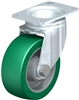 Blickle 4 Inch Swivel Caster with Brake | 550 Lbs Load Capacity With Ball Bearings