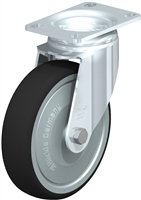 "5"" x 1-1/4"" Swivel Caster with a Thermoplastic Polyurethane Wheel 