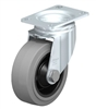 "Blickle 4"" x 1-1/2"" Swivel Caster with Elastic Solid Rubber Wheel 