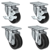 "3"" X 1.25"" Light Duty Phenolic Wheel - 2 Swivel 2 Locking Caster Set of 4 - 1,200 lbs Capacity Per Set of 4"