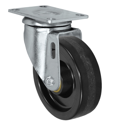 "5"" X 1.25"" Light Duty Phenolic Wheel - Swivel Caster - 350 lb cap."