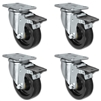 "4"" X 1.25"" Light Duty Phenolic Wheel - Set of 4 - 4 Front Locking Swivel Casters - 1,400 lb capacity per set of 4"