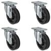 "4"" X 1.25"" Light Duty Phenolic Wheel - Set of 4 Swivel Casters - 1,400 lb capacity per set of 4"