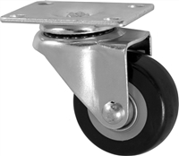 "3"" X 1.25"" Polyurethane on Polyolefin Wheel - Swivel Caster"