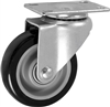 "4"" X 1.25"" Polyurethane on Polyolefin Wheel - Swivel Caster"