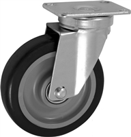"5"" X 1.25"" Polyurethane on Polyolefin Wheel - Swivel Caster"