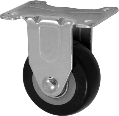 "3"" X 1.25"" Polyurethane on Polyolefin Wheel - Rigid Caster"