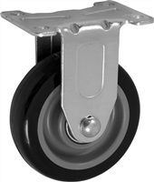 "4"" X 1.25"" Polyurethane on Polyolefin Wheel - Rigid Caster"
