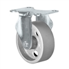 "5"" X 1.25"" Light Duty Semi-Steel Wheel - Rigid Caster"