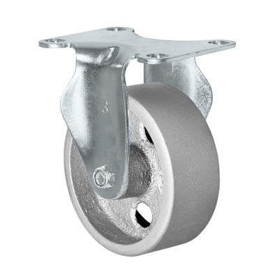 "4"" X 1.25"" Light Duty Semi-Steel Wheel - Rigid Caster"