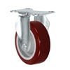 "4"" X 1.25"" Light Duty Thermo Rubber Wheel - Rigid Caster 300 LBS CAP"