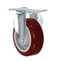 "4"" X 1.25"" Light Duty Polyurethane on Polyolefin Wheel - Rigid Caster 325 LBS CAP"