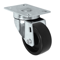 "4"" X 1.25"" Light Duty Polyolefin Wheel - Swivel Caster"