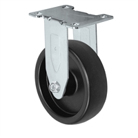 "4"" X 1.25"" Light Duty Polyolefin Wheel - Rigid Caster"