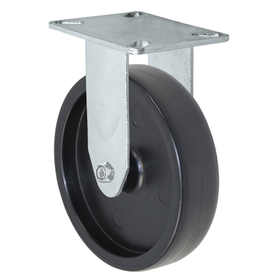 "5"" X 1.25"" Light Duty Polyolefin Wheel - Rigid Caster"