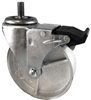 "3"" X 1.25"" Gray Iron Semi-Steel Total Lock Wheel 