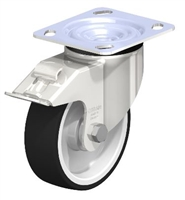 Blickle Stainless Steel 5 Inch Swivel Caster with Brake | 1650 Lbs Capacity