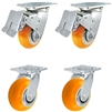 "4"" x 2"" Total Lock Caster Set of 4 