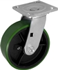 8X2 GREEN POLYURETHANE ON IRON WHEEL, SWIVEL CASTER, MEDIUM-HEAVY DUTY
