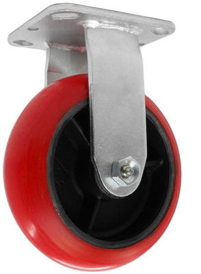 "MEDIUM DUTY 5""X2"" CROWN POLYURETHANE WHEEL, RIGID"