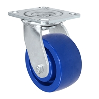 "4""X 2"" Blue Solid Polyurethane Wheel 