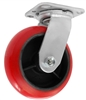 "MEDIUM DUTY 5""X2"" CROWN POLYURETHANE WHEEL, SWIVEL"