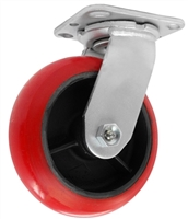 "MEDIUM DUTY 8""X2"" CROWN POLYURETHANE WHEEL, SWIVEL"