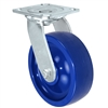 "6""X 2"" Blue Solid Polyurethane Wheel 