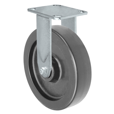 8X2 POLYOLEFIN WHEEL, RIGID CASTER, MEDIUM-HEAVY DUTY